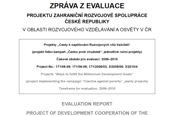 Evaluation 'Czechia against Poverty' 2006-2010