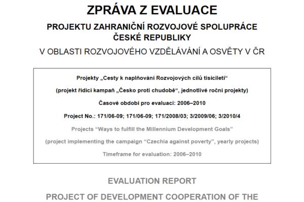 Evaluation 'Czechia against Poverty' 2006-2010