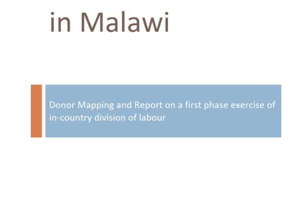 Towards a division of labour in Malawi