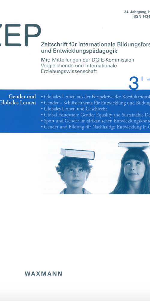 Gender – A key topic for development and education for sustainable development